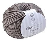 Rico Baby Merino dk 006 - kiesel Babywolle aus 100% Merinowolle extrafine zum...