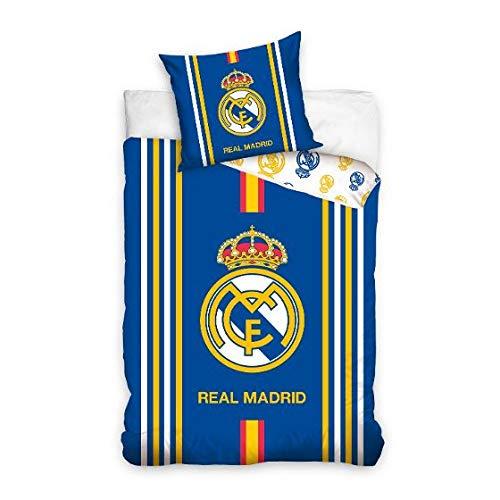 Real Madrid RM16_1001 Juego Funda NÓRDICA Reversible