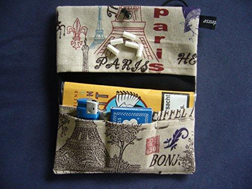 Büroteuse Tabaktasche / Drehertasche im Paris-Design, jede Tasche ein Unikat! Paris
