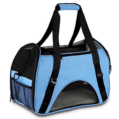 Hundetasche,Vicstar Hundetragetasche, Katzentragetasche, Tragetasche Transportbox, Oxford Tuch + Atmungsaktiv Netzfenster Transporttasche für Kleine Hunde und Katzen, Meistens 4 KG (Ohne Wattepad).