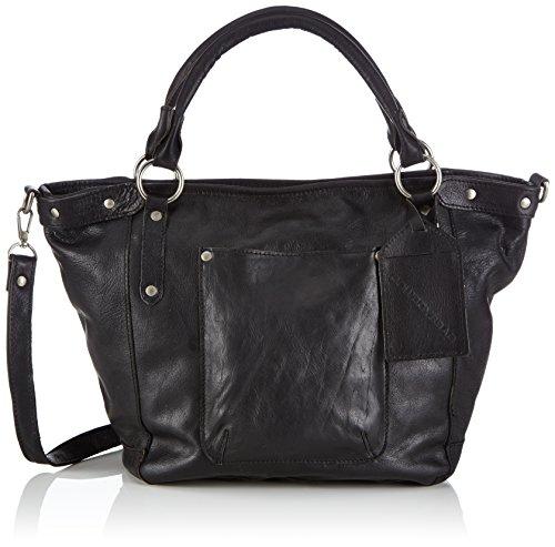 Cowboysbag Bag Bridgewater 1414 Damen Henkeltaschen 45x29x14 cm (B x H x T), Schwarz (Jet 100)