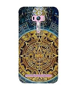 FUSON Calendar Maya Stone 3D Hard Polycarbonate Designer Back Case Cover for Asus Zenfone Selfie ZD551KL