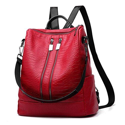 HapiLeap Nuova Scuola Ragazza Borse Moda da Viaggio in Pelle di Daypack Dello Zaino