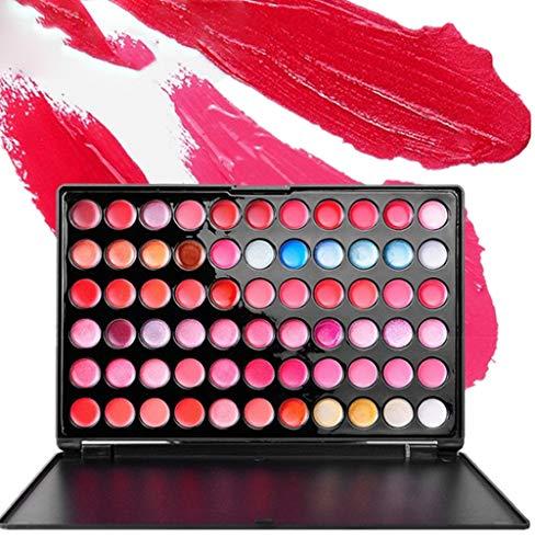 Pure Color Long Lasting Lippenstift (Pure Vie® Professionelle 66 Farben Lip Gloss Palette Makeup Kit - Ideal für Sowohl den Professionellen als auch Persönlichen Gebrauch)