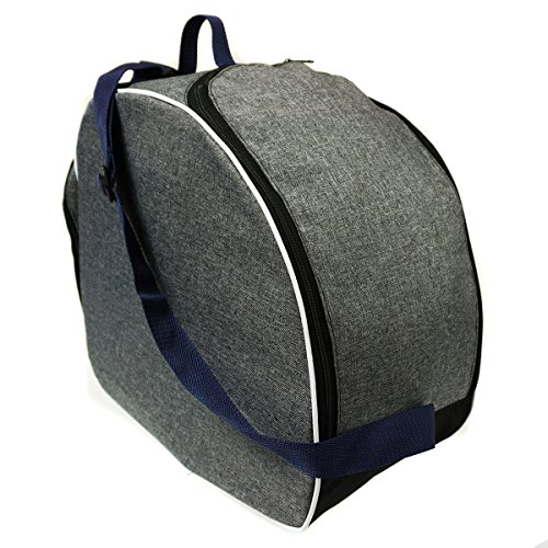 Bellissima e capiente borsa porta scarponi sci snowboard boot sacchetto della copertura per scarponi da sci len navy blue[054]