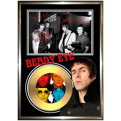 BEADY EYE Ltd-Cornice con disco in vinile in oro SIGNED CD & PHOTO DISPLAY oasis liam gallagher essere pretty green - Disco Eye