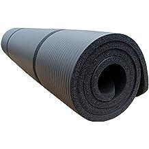 ScSports - Esterilla para ejercicios (190 x 60 x 1,5 cm), color negro