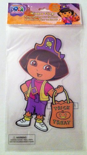 Dora the Explorer Halloween Window Gel Cling (Dora The Explorer Halloween)
