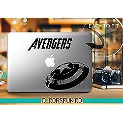 De Los Vengadores de marvel macbook - adhesivo de vinilo para macbook - vinilo negro de Capitán América