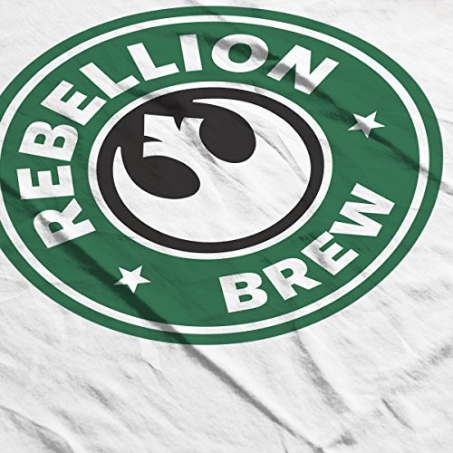 Star Wars Rogue One Rebellion Brew Coffee Starbucks Logo Women's Vest white