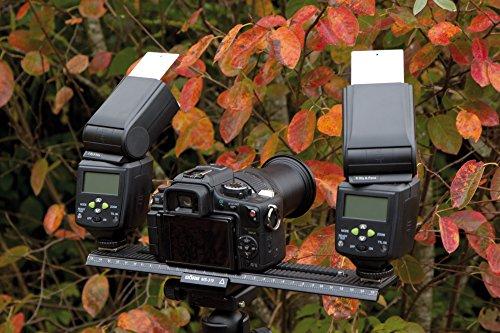 Dörr Makro Einstellschlitten MS-310 für Kompakt/DSLR/DSLM System, Einstellbereich 30 cm, anschluss (Kamera 2x 1/4 Zoll und Stativ 3/8 Zoll) 2-Universalaufsteckschuhe Gewindeadapter 1/4-3/8 Zoll