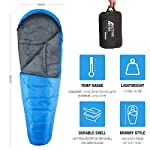 Active Era Professional 300 Warm Mummy Sleeping Bag - 300 GSM Double Layer Filling - 3-4 Season for Camping, Hiking…