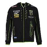 Monster Tech3 18T3M-AH1-M Sweatshirt à Capuche Homme, Noir/Vert, FR : M (Taille Fabricant : M)