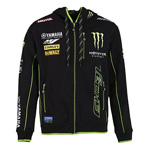 Monster Tech318t3m-ah1-s Sweatshirt con Cappuccio Uomo, Nero/Verde, FR: S (Taglia Produttore: S)