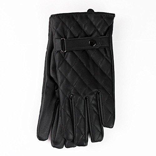 EliteZotec Damen 1Taste Riemen mit Diamant Naht Leder Handschuhe Medium/Large Hot (Hot Leder Damen Handschuhe)