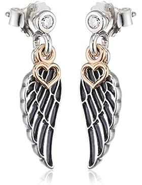 Pandora Damen-Ohrhänger Love & Guidance 14kt Gold 925 Silber Zirkonia transparent Brillantschliff - 290583CZ