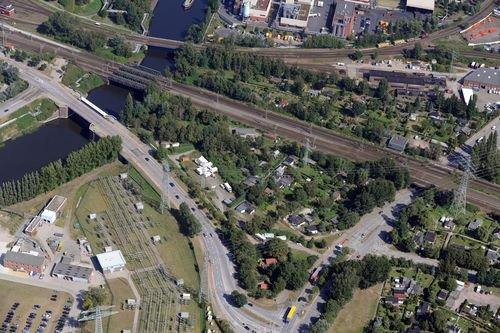MF Matthias Friedel - Luftbildfotografie Luftbild von Ausschläger Allee in Billbrook (Hamburg), aufgenommen am 19.08.09 um 11:42 Uhr, Bildnummer: 5441-49, Auflösung: 6048x4032px = 24MP - Fotoabzug 50x75cm