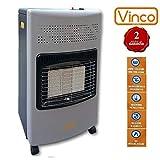 VINCO 71406 VIN71406 Poêle à gaz avec Panneau Infrarouge, 4200Watt, Blanc, 36x 41x 72cm