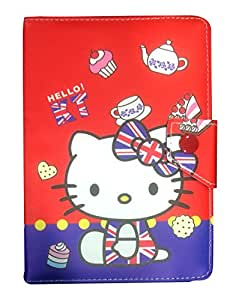 Corcepts Red Hello Kitty Tablet flip Cover for XElectron WS777 Tablet