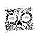 2 PZ Giorno dei morti Dia de los Muertos Maschera Zucchero Teschio Tattoo Beauty Halloween vestire-Decorazione per la pittura del viso-Maschera horror-Adesivo faccia (B, Multicolor)