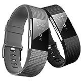 YOMETOME Fitbit Charge 2 Correa, Soft TPE Deportes Banda de Repuesto Fitness Banda Ajustable para Fitbit Charge 2