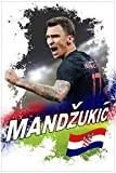 Calcio - Mario Mandzukic Croazia Poster Stampa Geante XXL (120 x 80cm)