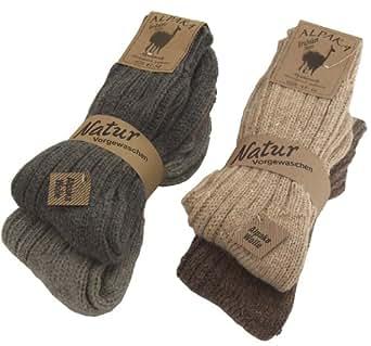 BRUBAKER 4 paia di calzini caldi e morbidi , in lana Alpaca miscelazione dei colori EU 35-38