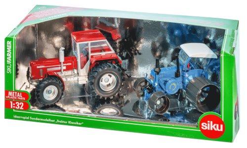 SIKU 8516 1:32 Sondermodellset mit 2 Traktoren: Lanz Bulldog und Schlüter Super 1250 VL