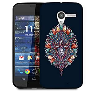 Snoogg Adivasi Mask Designer Protective Back Case Cover For Motorola Moto X