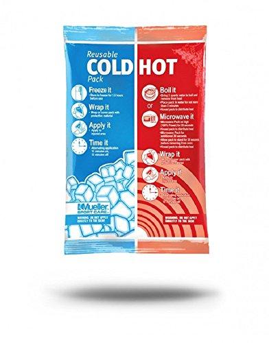 MUELLER Bolsa de frío y Calor Reutilizable, Unisex Adulto, Blanco, Tamaño: 15,2 cm x 22,8 cm
