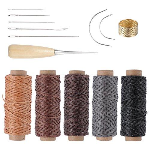 ROSENICE Herramienta artesanía cuero agujas coser