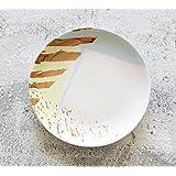 Kelly' Harvest House Plato de cena de cerámica Plato de Ensalada de Frutas y Postres, Ensalada Simplemente Chirrido / Plato de Albaricoque 8 pulgadas ( Color : D )