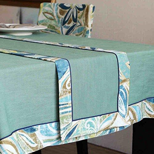 Américain Pays Style Chemin de Table Tissu Fangma Vert Café Couleur Isolation Table Mat Table Basse Drapeau (Color : Green, Size : 32 * 200cm)