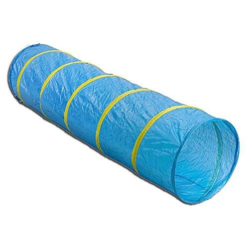 Pop-Up Kinder Kriechtunnel Blau Spieltunnel Krabbeltunnel 180cm mit Tasche