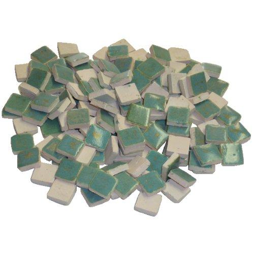 229302810x 10x 3mm 70g 150-tlg. Keramik glasiert Mosaik Fliesen, Reseda Grün