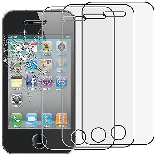 ebestStar - Pack x3 Verre trempé iPhone 4S, 4 Apple [115.2 x 58.6 x 9.3mm, 3.5''] Film Protection Ecran Vitre Protecteur Anti Casse, Anti-Rayure, Pose sans Bulles