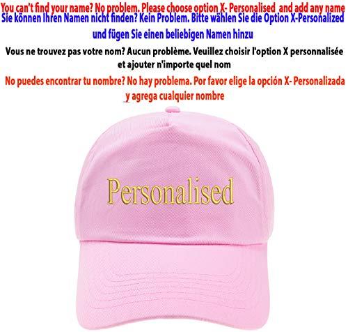 4sold Ni/ños Escuela Bordado Gorra Ni/ños Hat Alphabet A Z Verde Rosa Claro