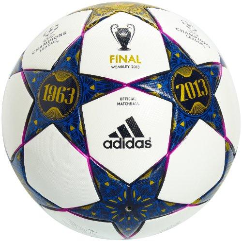 adidas Herren Fußball Finale Wembley Original Match Ball, White/Pantone/Vivid Pink S13, 5, Z20578 (Adidas Ball, Fußball Original)
