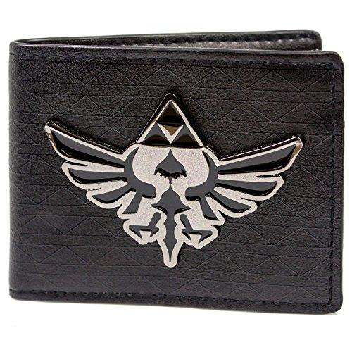 Cartera de Nintendo Zelda Triforce Badge Negro