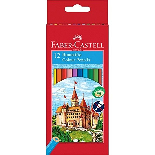 Faber-Castell 111212 - Buntstifte CASTLE Hexagonal, 12er Kartonetui