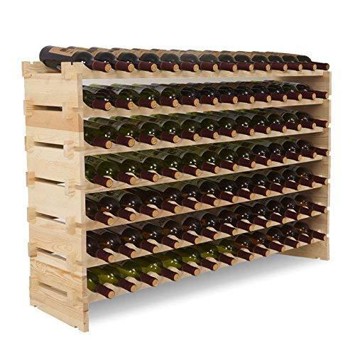 91 Flaschen Weinständer XXL Flaschenregal Vintage 130 x 30 x 82 ()