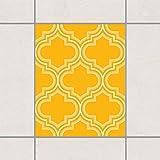 Pattern Design GmbH Fliesen Aufkleber–Retro Marokko Melone Gelb 25cm x 20cm, Set Größe: 20Stück