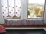 Zugluftstopper dekorativ in edler Gobelin Qualität rot mit schönem Landhaus