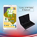 IKALL N9 Android Tablet with Keyboard (7 inch, 3G, WiFi with Dual Sim) -White, 2GB RAM and 16GB ROM