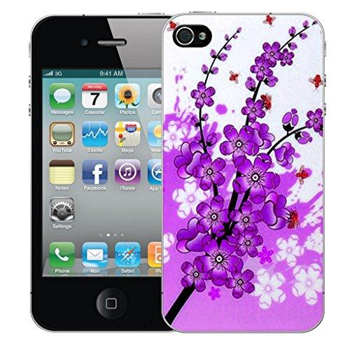 iphone 5 5s Dur Coque couverture Pare-chocs Case Cover - rouge amore conception par Mobile Case Mate Violet