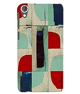Citydreamz Colorful Abstract Modern Art Creative Design Hard Polycarbonate Designer Back Case Cover For HTC Desire 630/ HTC Desire 630 Dual Sim