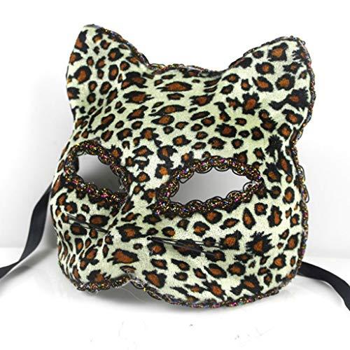 LZY Maske- Halloween-Maske Schöne Broadway Cat Face Painted Mask (Farbe : Yellow A, größe : One Size)