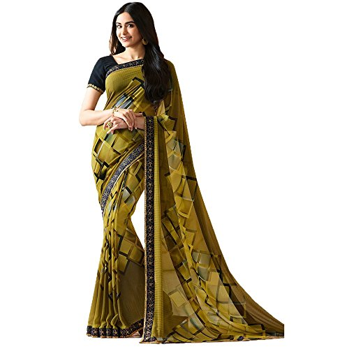 Traditional fashion women's heavy quality georgette saree with banglori silk blouse piece-TFS1818