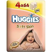 Huggies Soft Skin Lingettes 4x 64par paquet