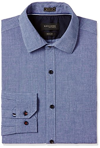 Black Coffee Men's Formal Shirt (11110001509447_BCSH013739 _X-Large_Blue)